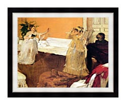 Edgar Degas The Song Rehearsal canvas with modern black frame