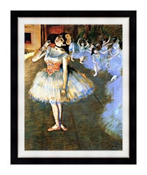Edgar Degas The Star Impressionist Art canvas with modern black frame