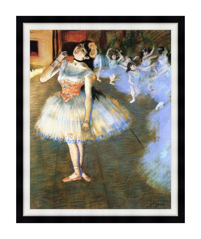 Edgar Degas The Star Impressionist Art with Modern Black Frame