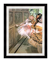 Edgar Degas Impressionist Dancers In The Wings canvas with modern black frame