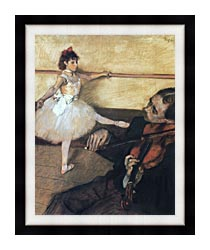 Edgar Degas The Dance Lesson canvas with modern black frame