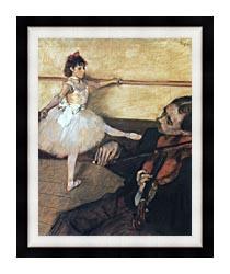 Edgar Degas The Dance Lesson canvas with modern black frame