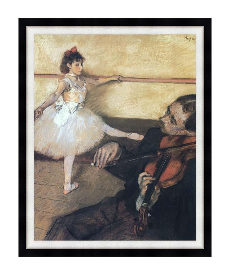 Edgar Degas The Dance Lesson with Modern Black Frame
