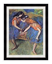 Edgar Degas Degas Ballerinas canvas with modern black frame