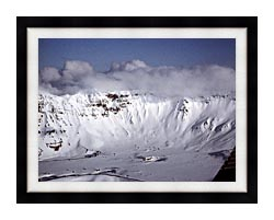 U S Fish And Wildlife Service Aniakchak Caldera canvas with modern black frame