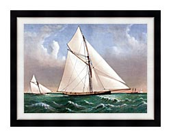Currier And Ives Cutter Genesta RY canvas with modern black frame