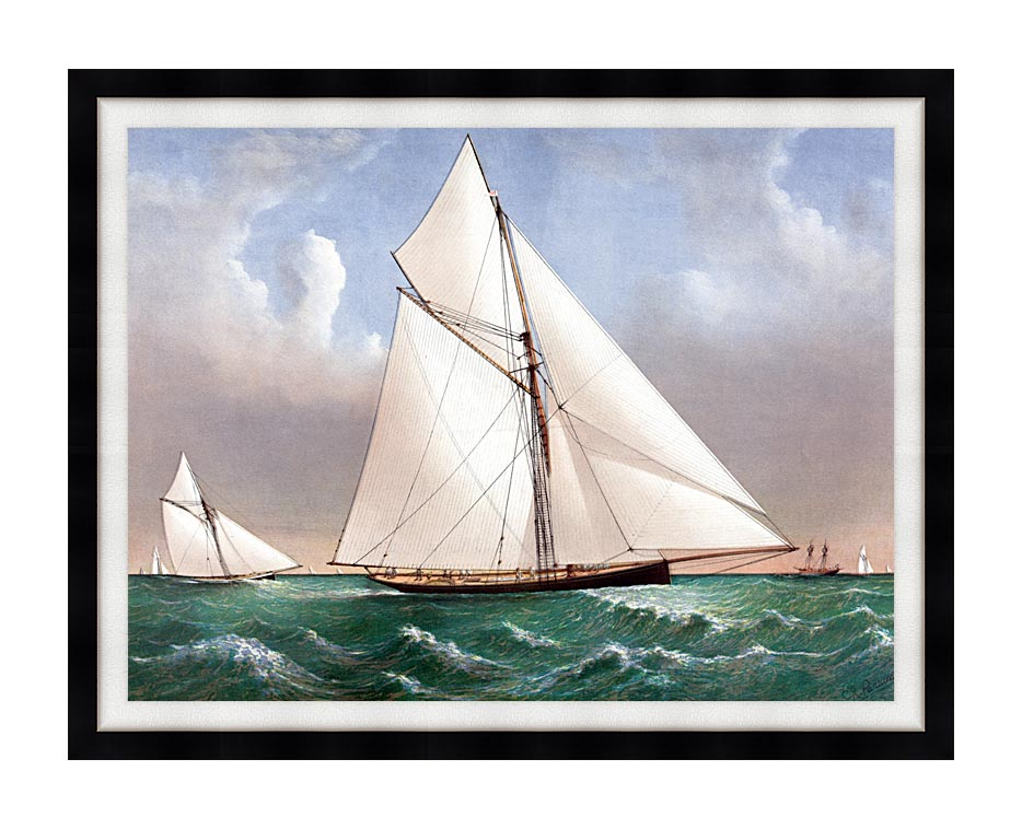 Currier and Ives Cutter Genesta, RY with Modern Black Frame
