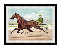 Currier And Ives Edwin Thorne canvas with modern black frame