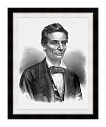 Currier And Ives Hon Abraham Lincoln Of Illinois canvas with modern black frame