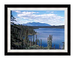 U S Fish And Wildlife Service Blackfish Lake canvas with modern black frame