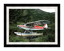 U S Fish And Wildlife Service Float Plane canvas with modern black frame