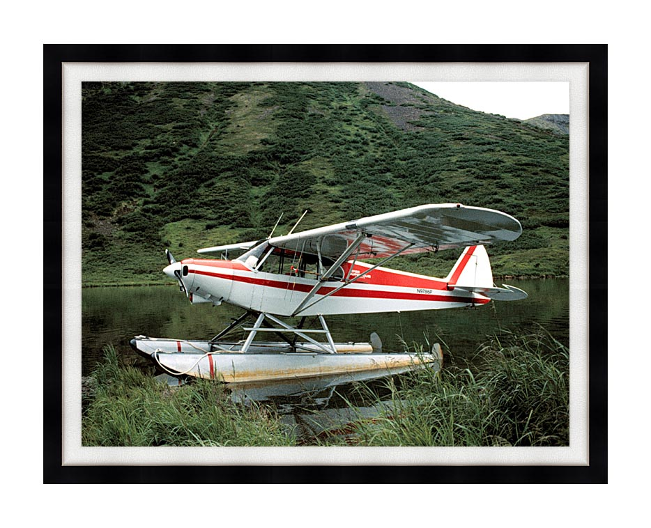 U S Fish and Wildlife Service Float Plane with Modern Black Frame