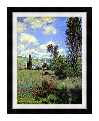 Claude Monet Path In The Ile Saint Martin Vetheuil canvas with modern black frame