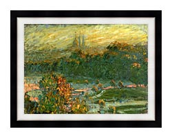 Claude Monet The Tuileries Study canvas with modern black frame