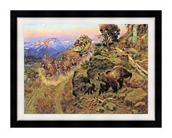 Charles Russell Bruin Not Bunny Turned The Leaders canvas with modern black frame