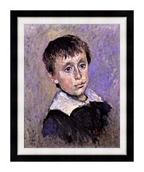 Claude Monet Jean Monet canvas with modern black frame