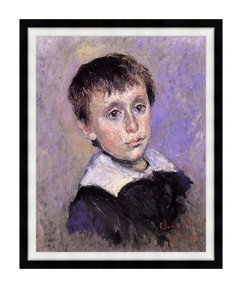 Claude Monet Jean Monet with Modern Black Frame