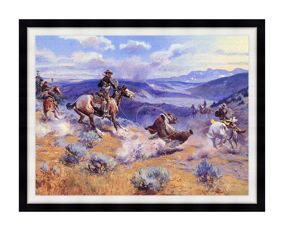 Charles Russell Loops and Swift Horses are Surer than Lead with Modern Black Frame