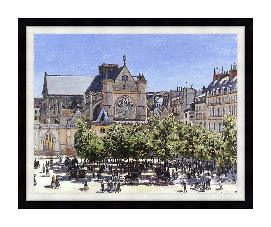 Claude Monet Saint Germain l'Auxerrois with Modern Black Frame