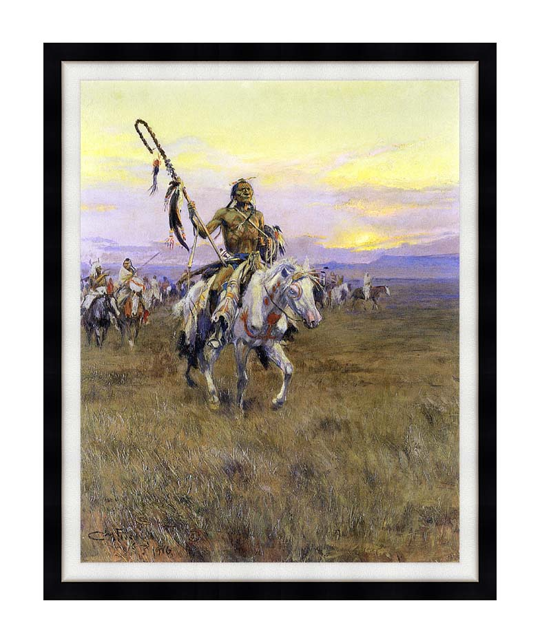 Charles Russell Medicine Man with Modern Black Frame