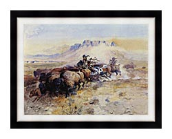 Charles Russell Redmans Meat canvas with modern black frame