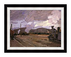 Claude Monet The Gare Dargenteuil canvas with modern black frame