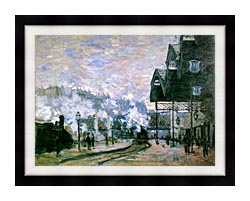 Claude Monet The Western Region Goods Sheds canvas with modern black frame