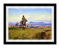 Charles Russell The Romance Makers canvas with modern black frame