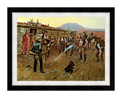 Charles Russell The Tenderfoot canvas with modern black frame