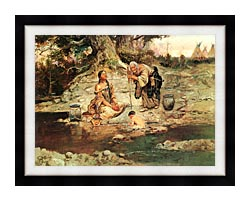 Charles Russell Three Generations canvas with modern black frame