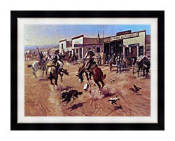 Charles Russell Utica canvas with modern black frame