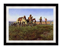 Charles Russell Wildmans Truce canvas with modern black frame