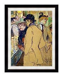 Henri De Toulouse Lautrec Alfred La Guigne canvas with modern black frame