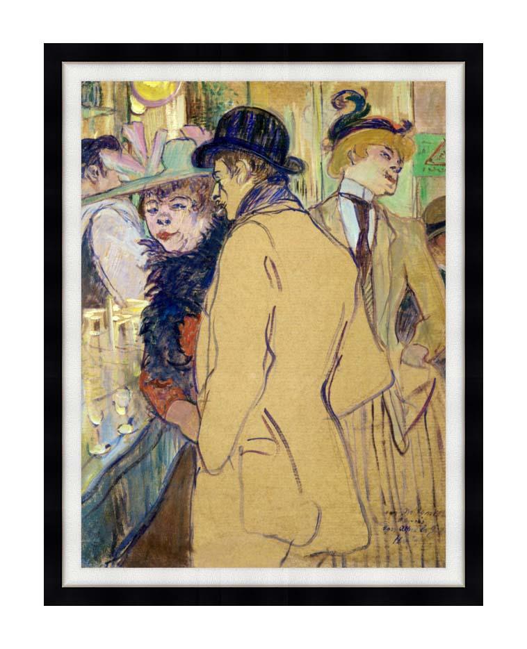 Henri de Toulouse Lautrec Alfred la Guigne with Modern Black Frame