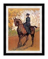 Henri De Toulouse Lautrec Amazone canvas with modern black frame