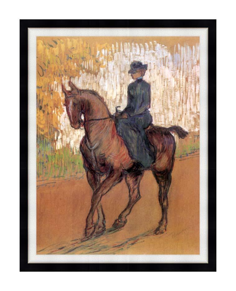 Henri de Toulouse Lautrec Amazone with Modern Black Frame