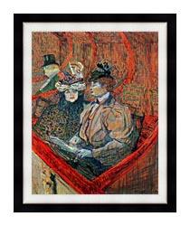 Henri De Toulouse Lautrec La Grande Loge canvas with modern black frame