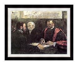 Henri De Toulouse Lautrec An Examination At The Faculty Of Medicine Paris canvas with modern black frame