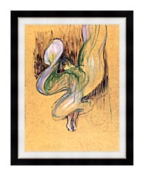 Henri De Toulouse Lautrec Loie Fuller canvas with modern black frame
