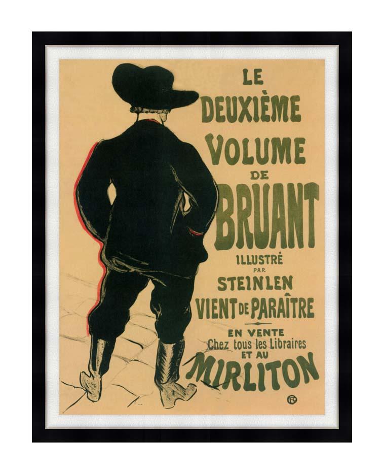 Henri de Toulouse Lautrec Aristide Bruant at the Mirliton with Modern Black Frame
