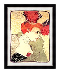 Henri De Toulouse Lautrec Marcelle Lender canvas with modern black frame