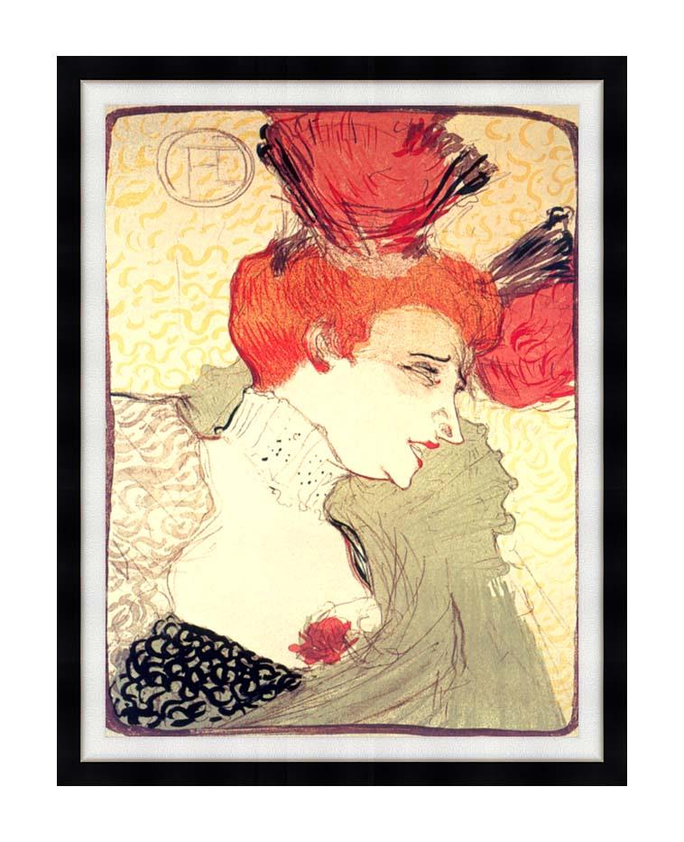 Henri de Toulouse Lautrec Marcelle Lender with Modern Black Frame