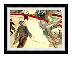 Henri De Toulouse Lautrec At The Cirque Fernando The Ringmaster canvas with modern black frame