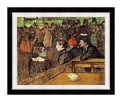 Henri De Toulouse Lautrec The Moulin De La Galette canvas with modern black frame
