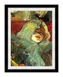 Henri De Toulouse Lautrec At The Rat Mort Detail canvas with modern black frame