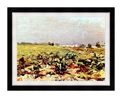 Henri De Toulouse Lautrec Celeyran View Of The Vineyards canvas with modern black frame