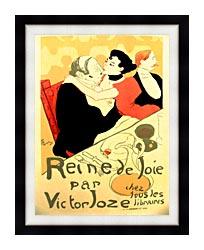 Henri De Toulouse Lautrec Reine De Joie Par Victor Joze canvas with modern black frame