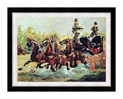 Henri De Toulouse Lautrec Count Alphonse De Toulouse Lautrec Driving His Mail Coach canvas with modern black frame