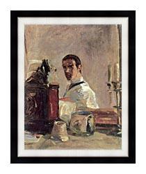 Henri De Toulouse Lautrec Henri De Toulouse Lautrec Self Portrait canvas with modern black frame
