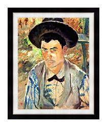 Henri De Toulouse Lautrec Study For A Young Routy canvas with modern black frame